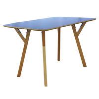 купить Деревянный прямоугольный стол, с деревяннами ножками и с металлической подставкой 800x1200x750 мм, черный в Кишинёве