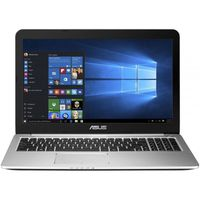 """NB ASUS 15.6"""" K501UX (Core i7-6500U 4Gb 1Tb) 15.6"""" Full HD (1920x1080) Non-glare, Intel Core i7-6500U (2x Core, 2.5GHz - 3.1GHz, 4Mb), 4Gb (Onboard) PC3-12800, 1Tb 5400rpm, GeForce GTX 950M 2Gb, HDMI, Gbit Ethernet, 802.11ac, Bluetooth, 2x USB 3.0, 2x USB 2.0, Card Reader, HD Webcam, DOS, 3-cell 48 WHrs Polymer Battery, Illuminated Keyboard, 2.0kg, Black/Silver"""