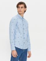 Рубашка HOUSE Голубой с принтом
