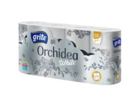 GRITE - Туалетная бумага ORCHIDEA WHITE  3 слоя 8 рулона 21,25м