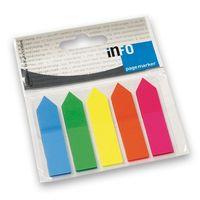 Info Notes Закладки клейкие INFO 12x44мм/5x25 л., пластик, стрелки