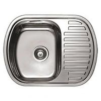 купить Мойка кухонная нержавеющая 0,8мм (decor) 49/63 см лев 4963 L в Кишинёве
