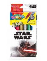 Set de markere metalice 6 culori- Colorino Disney Star Wars