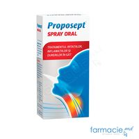 Proposept spray oral 20 ml pu adulti si copii + 12 ani (propolis,ricin, stevie)