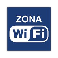 """Наклейка """"ZONA WIFI""""10х10см"""