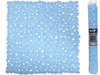 Коврик для душа 53X53cm MSV Galets голубой, PVC