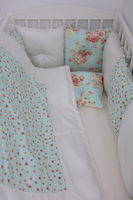 Комплект постельного белья Happy Baby Mint Flowers (6 ед.)