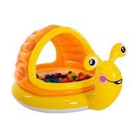 Детский надувной бассейн Ленивая улитка 145x102x74cm, 53Л, 1-3 лет