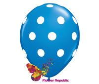 купить Воздушный шар Синий с рисунком Горошек - 30 см в Кишинёве