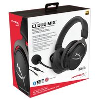 cumpără HYPERX Cloud MIX Bluetooth + Wired Gaming Headset, Black, Built-in mic and a detachable mic, Frequency response: 10Hz–40,000 Hz, Detachable braided cable with in-line audio control, Dual Chamber Drivers, 3.5 jack, Pure Hi-Fi capable, Braided cable în Chișinău