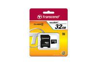 16GB MicroSDHC Transcend TS16GUSDHC4, Class 4, SD adapter