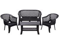 купить Комплект мебели: стол, 2стула, скамья пластиковые в Кишинёве