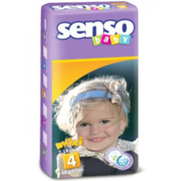 Senso Baby подгузники Maxi 4, 7-18кг. 40шт