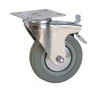 Колесо поворотное с тормозом – Ø100mm (3054-100)