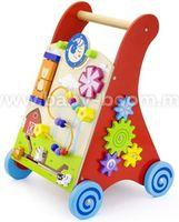 3ToysM J1 50950 Деревянные ходунки с игровым центром красный