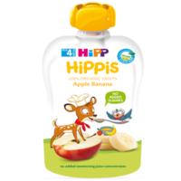 Hipp Hippis пюре сюрприз яблоко и банан, 4+мес. 100г