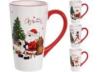 Чашка рождественская 580ml Фигура и елка, керамика