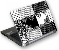 Sticker laptop G-Cube GSBW-15Q B&W QuiltStyle