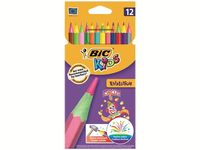 Set creioane colorate 12buc BIC Evolution Circus
