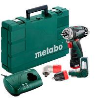 Аккумуляторный шуруповерт Metabo PowerMaxx BS Quick Basic Set