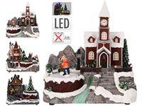 """Сувенир рождественский LED """"Дом с движущимися фигурами"""" 18Х1"""