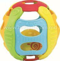 Baby Mix DI-WD 3355B  Гибкий мяч с погремушкой (голубой)