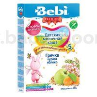 Bebi молочная гречневая каша Premium с курагой и яблоком 200gr.(5+)