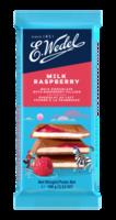 Молочный шоколад Wedel Raspberry, 100г