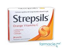 Strepsils® Orange Vitamina C pastile N12x2