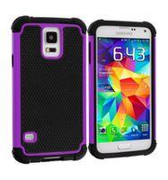 Husa de protectie Go Cool pentru Galaxy S5, Black-Violet