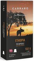 Capsule pentru aparatele de cafea Carraro Ethiopia Compatible Nespresso 10caps