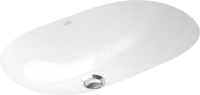 O.NOVO умывальник 60*35см,для установки под столешницу, белый альпин