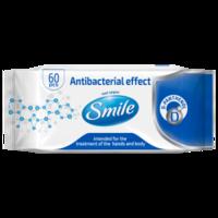 Салфетки антибактериальные Smile 60 шт