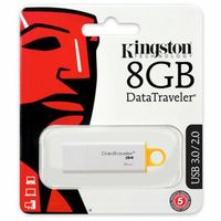 купить Kingston DataTraveler Generation 4 (G4) 8GB WhiteYellow, USB3.0 в Кишинёве