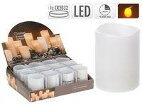 купить Свеча мерцающая 6.5X5cm, LED, с функцией таймера, белая в Кишинёве