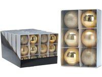 купить Набор шаров 6X80mm, золотые, в коробке в Кишинёве