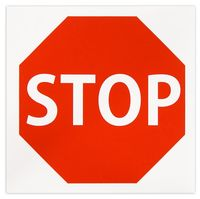 """Наклейка """"STOP"""" 20x20см"""
