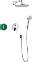 Crometta S Sistem de duș 240 1jet cu baterie monocomanda