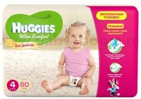 Huggies Ultra Comfort Giga Girl 4 (8-14 кг.) 80 шт.