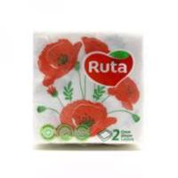 Ruta салфетки бумажные Luxe Flowers, 40штк
