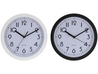 купить Часы настенные круглые D22.5cm, H4cm, цвет черный/белый в Кишинёве