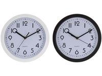 Часы настенные круглые D22.5cm, H4cm, цвет черный/белый