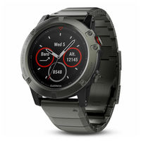 Часы Garmin Fenix 5X Sapphire - Slate grey with metal band, 010-01733-03