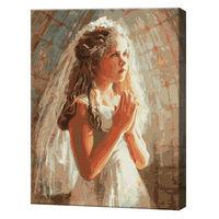 Rugăciunea copilei, 40х50 cm, pictură pe numere Articol: GX24692