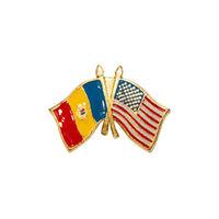 купить Значок - Флаг США & Молдова в Кишинёве