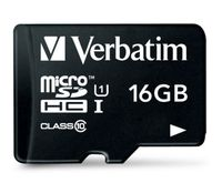 Сard de memorie Verbatim microSDHC 16Gb + Adapter (44082)