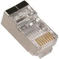 "LY-US006-30U, RJ45 Shielded Modular Plug Cat.5E Long Type 30u"" Gold Plated 100pcs/bag"