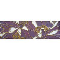 Декор (400*115) Апрель фиолетовый
