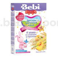 Bebi молочная каша из 4 злаков со сливками и персиком 200gr.(12+)