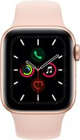 Смарт-часы Apple Watch Series 5 40mm Gold Aluminium Case With Pink Sand Sport Band (MWV72)